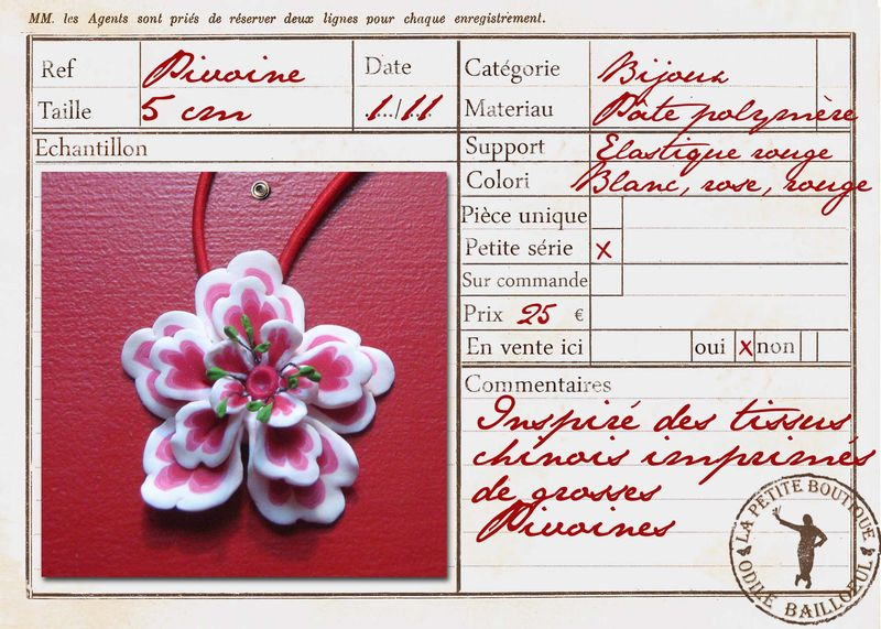 Carte collier pivoine