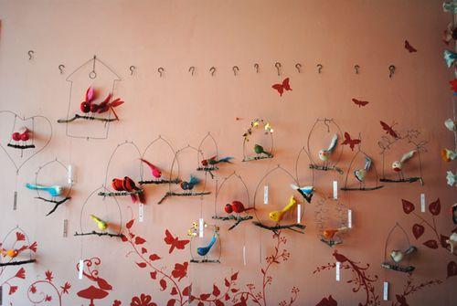 Mur d'oiseaux