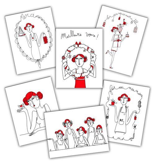 6 cartes filles
