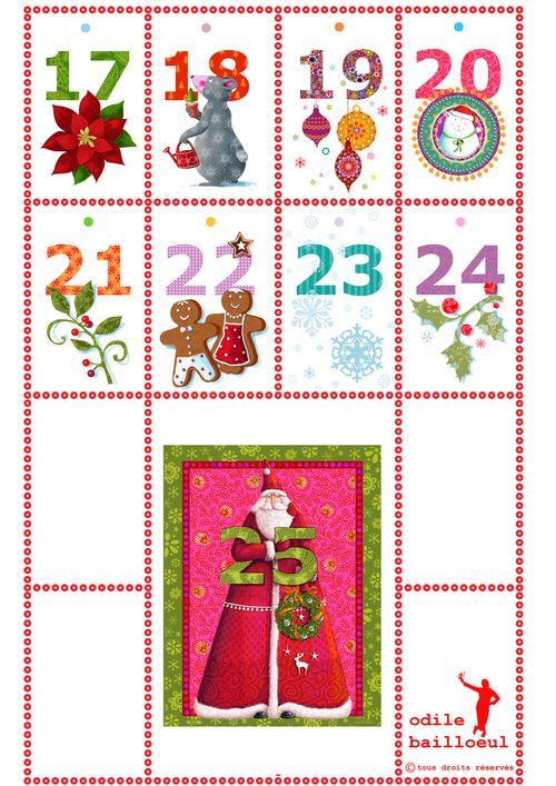 Page A4 calendrier de l'aven t suite