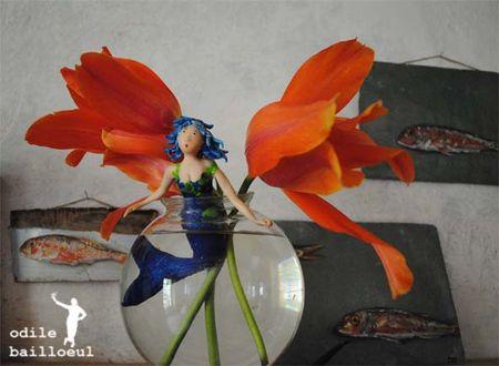 Sirène aux tulipes