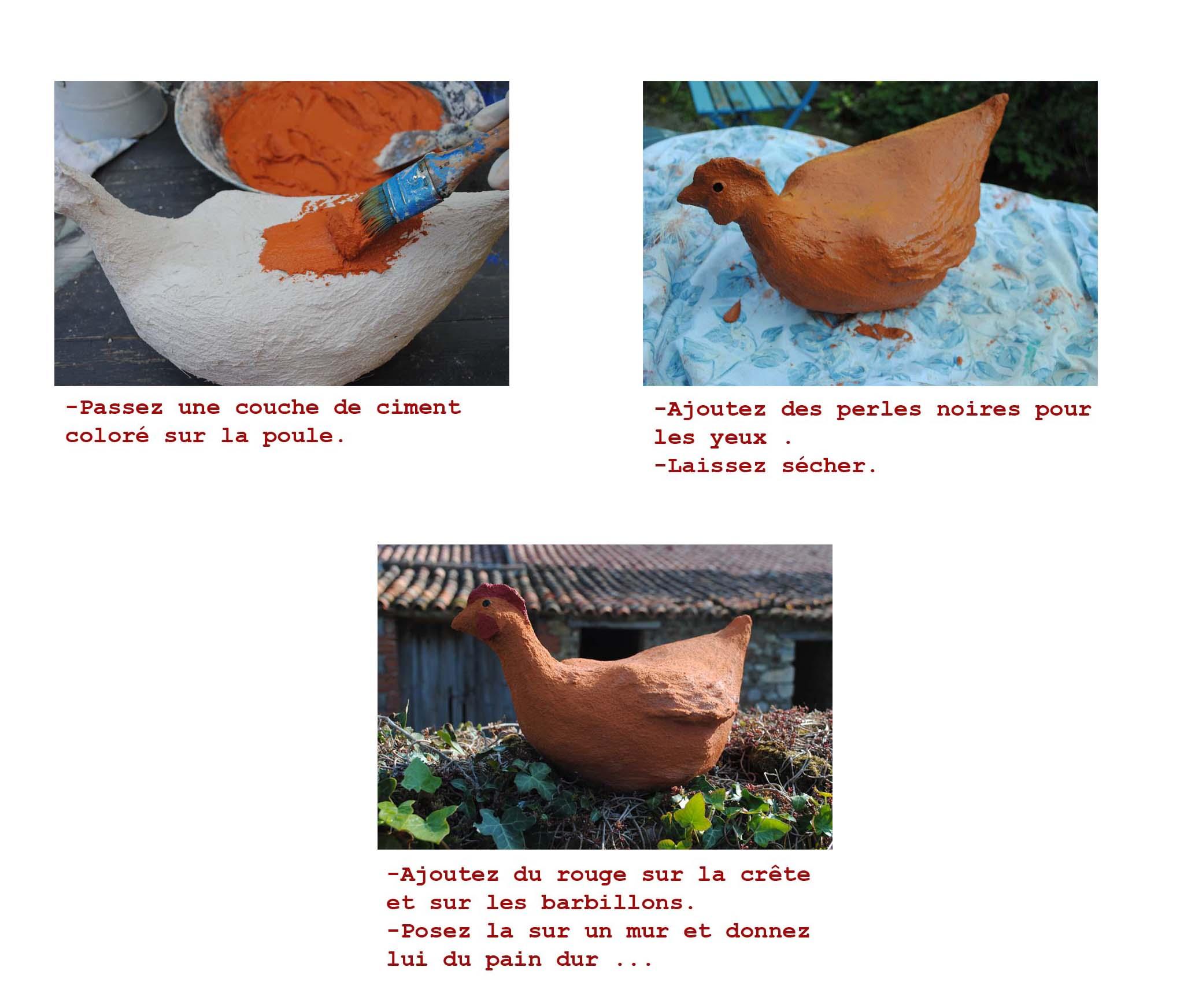 Sculpture Grillage A Poule tutoriel poule en ciment - odilebailloeul