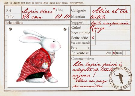 Carte lapin rouge