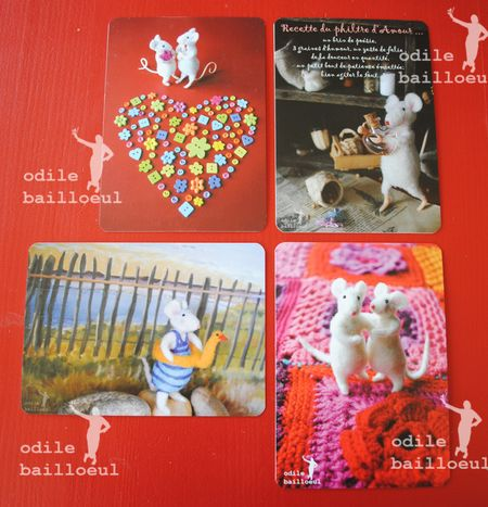 4 cartes philtre d'amour