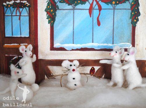 Mini souris des neige
