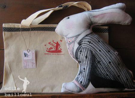Mini lapin noir dans sac