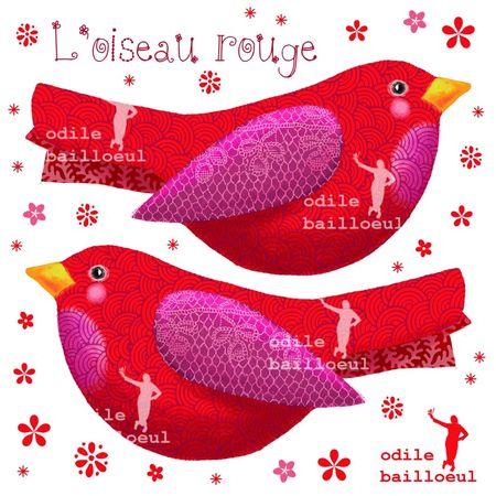 Mini oiseau rouge