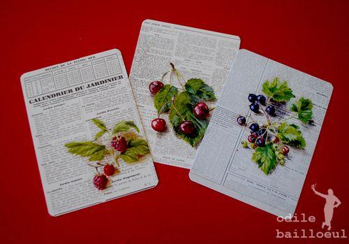 3 cartes sur papier
