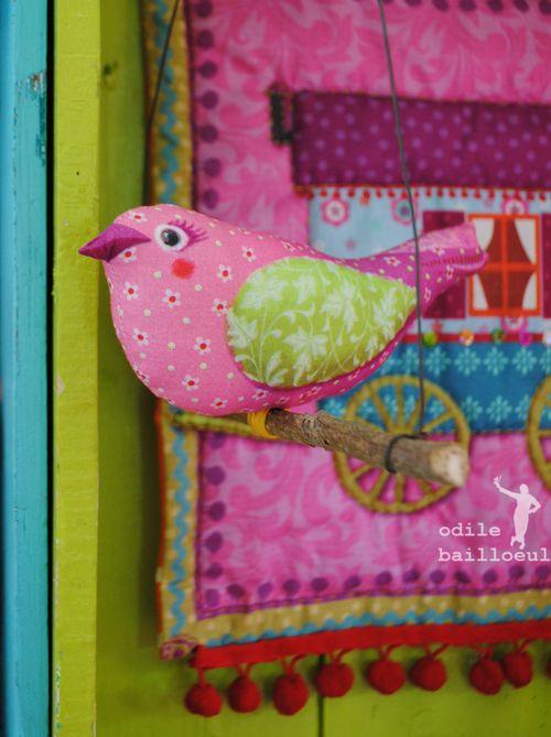 Mini oiseau rose