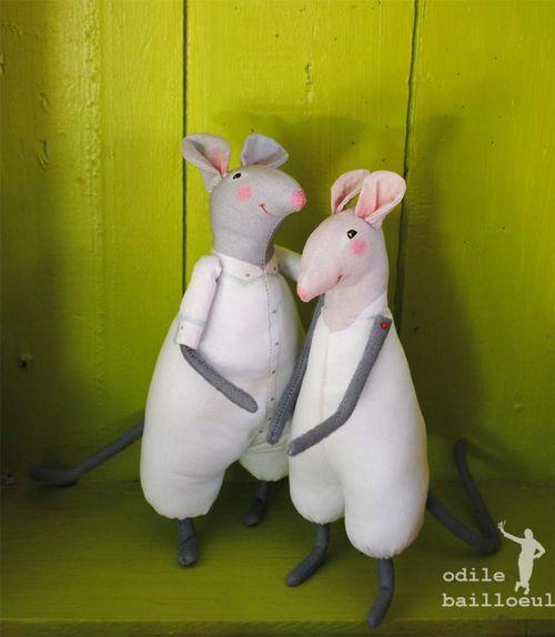 Mini souris blanches1027