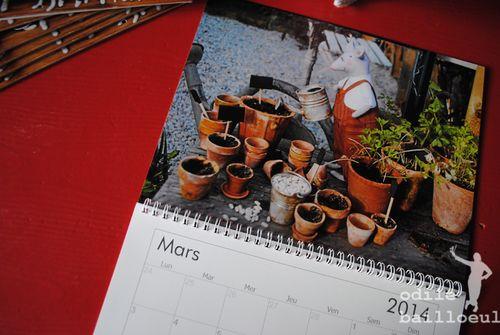 Mini calendrier mars