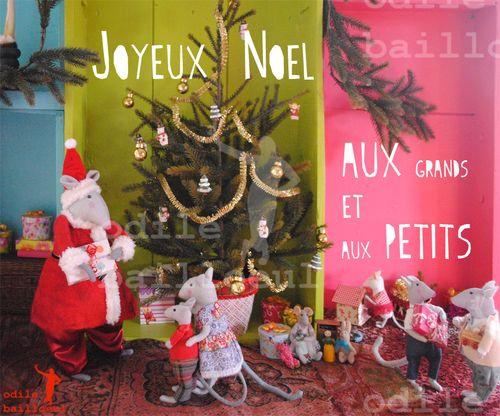 Mini carte  joyeux noel