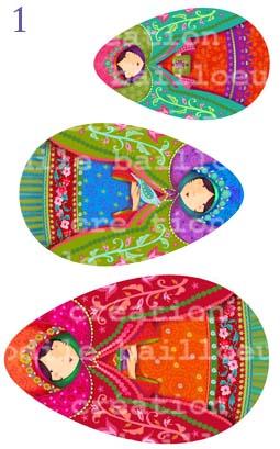 Mini 3 poupées russes
