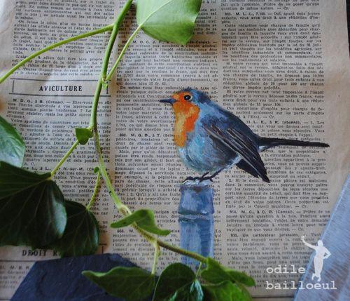 Mini peinture oiseau 2
