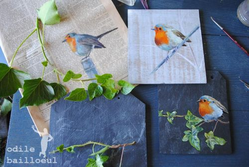Mini peinture oiseau 1