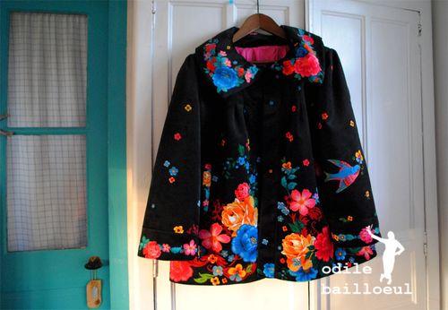 Mini veste noire