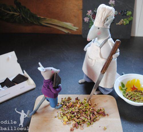 Mini choco pistaches
